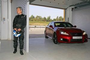 Yukihiko Yaguchi 2007 mit dem Lexus IS F