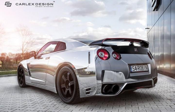"""Nissan GT-R """"Robin"""" von Carlex Design punktet mit Chrom-Folierung ..."""