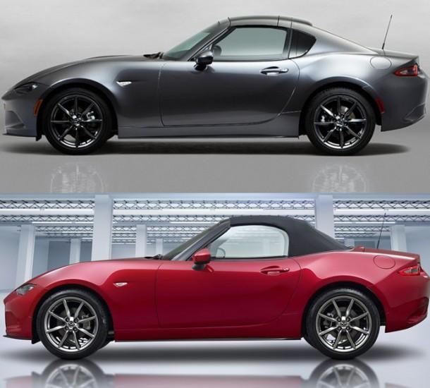 Vergleich-Mazda-MX-5-RF-Mazda-MX-5-geschlossen